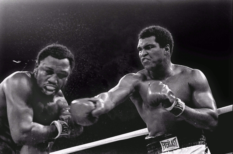 1975 Thrilla In Manilla Muhammad Ali Joe Frazier Boxing Poster A3//A4 Print