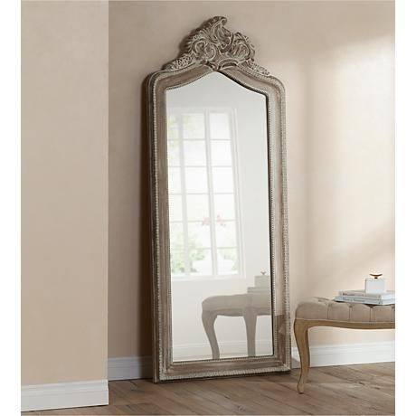 Lean This Large Floor Mirror Against A Wall For A Grand And
