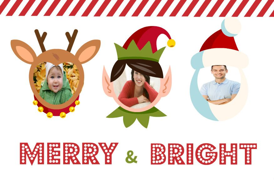 Christmas Card Insert Face Google Search Merry And Bright Christmas Cards Cards
