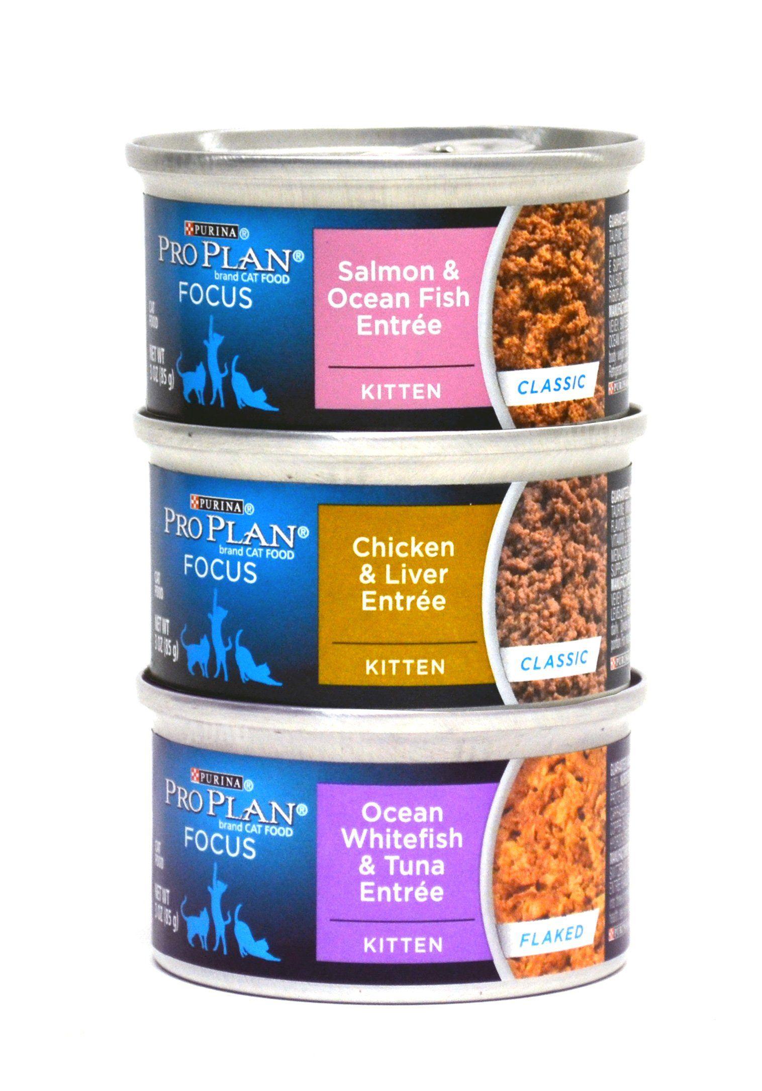 Purina pro plan focus canned cat kitten food variety