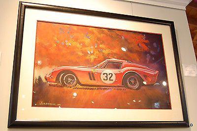 Hurley/Yenko GTO Original Painting by Jack Juratovic - Ferrari - Automobilia -