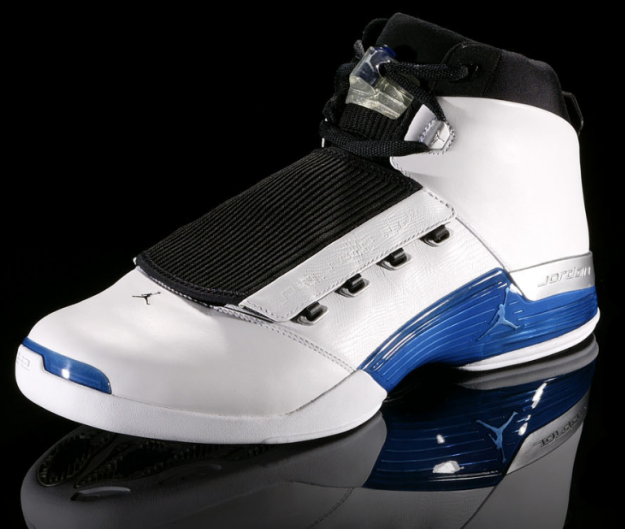 Air Jordan 17 (XVII) Original (OG) - White / College Blue - Black •  KicksOnFire.com