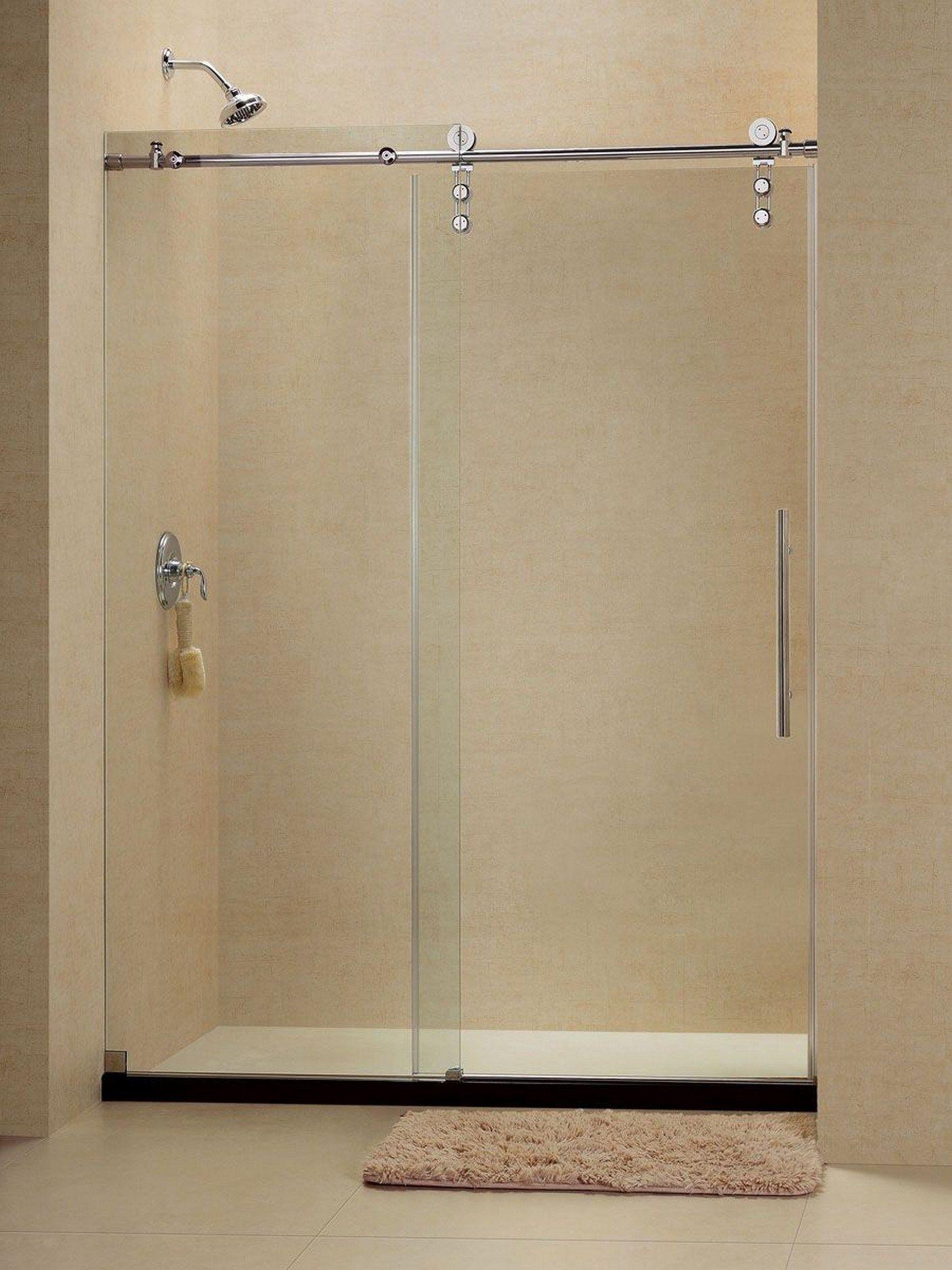 68 Open Entry Shower Design Featuring Dreamline In 2020 Shower Doors Sliding Shower Door Frameless Sliding Shower Doors