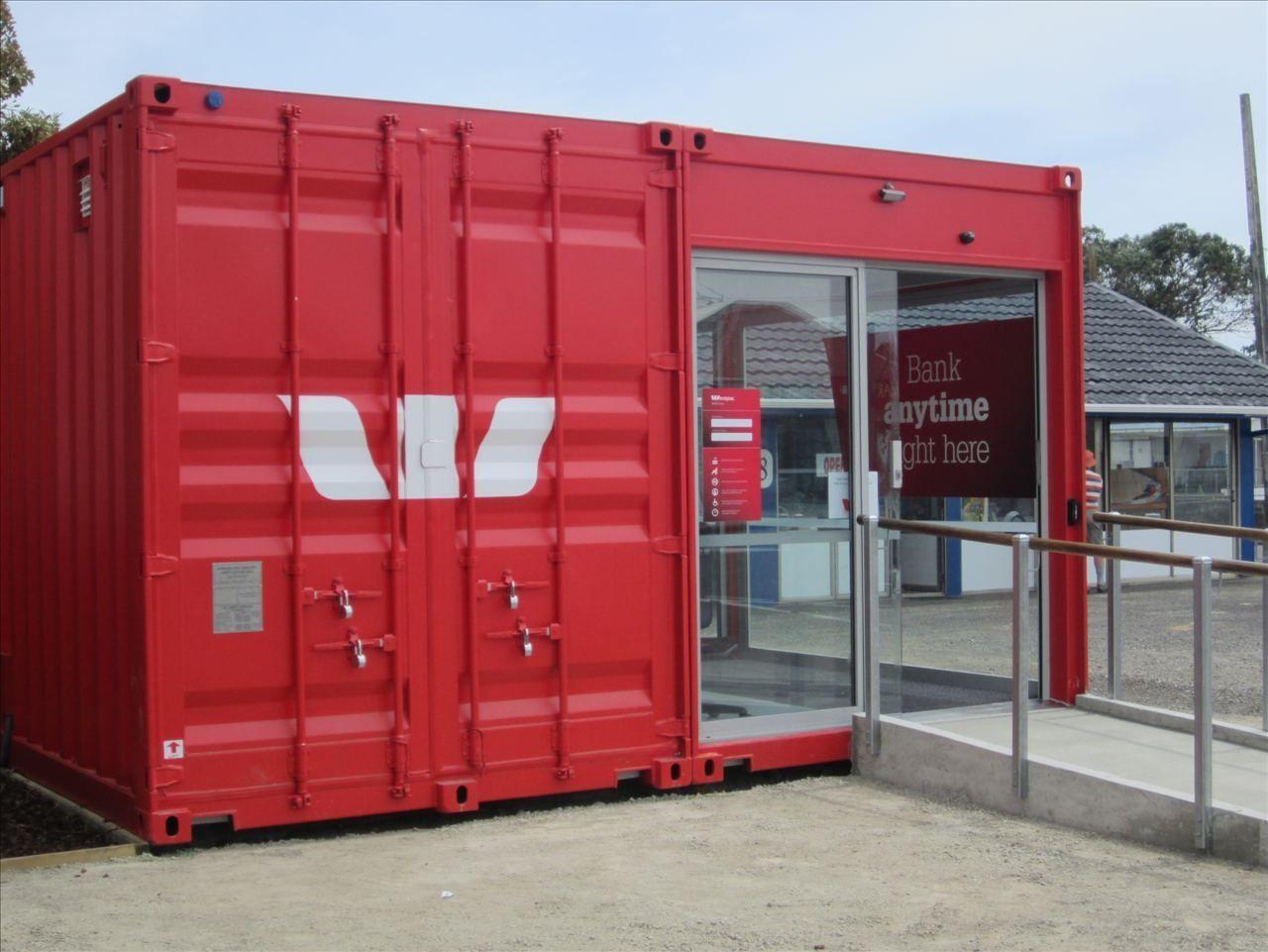 Construction en conteneur pour bureau westpac mobile bank branch