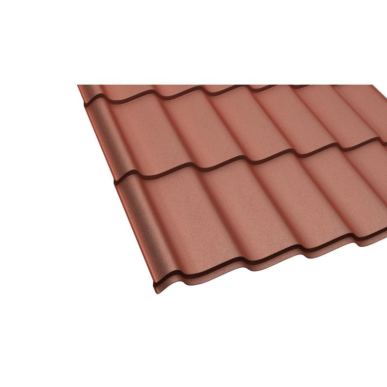 Plaque de toiture imitation tuile acier terracotta l.0.98 ...