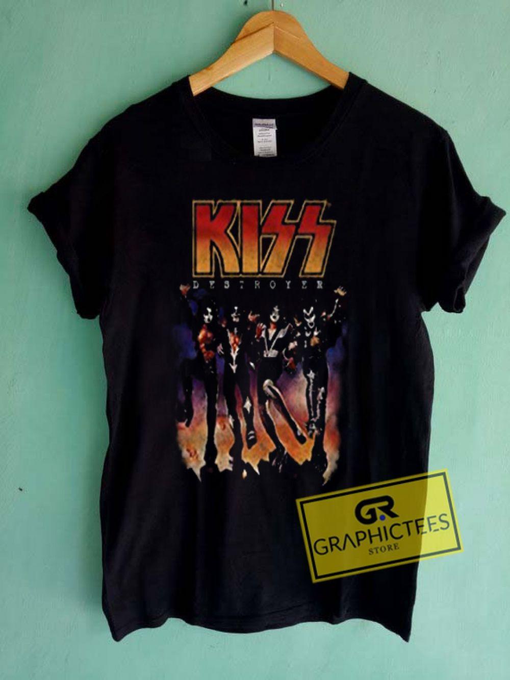 Kiss band vintage graphic tees shirts graphicteestore