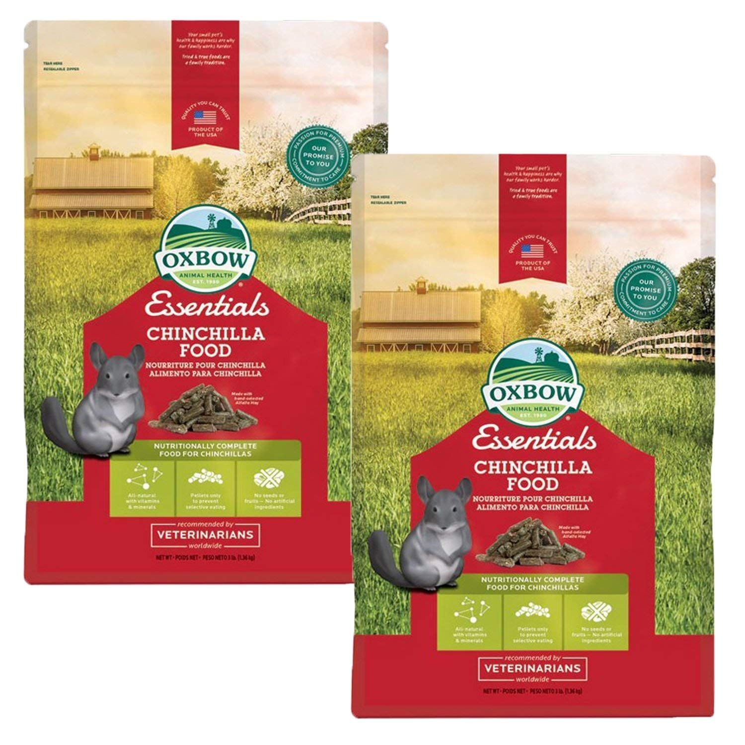Oxbow essentials chinchilla 3lb 2 pack review more
