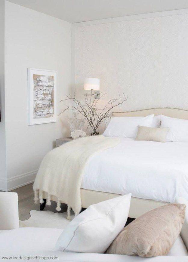 22 fotos de habitaciones minimalistas que amar s - Habitaciones color beige ...