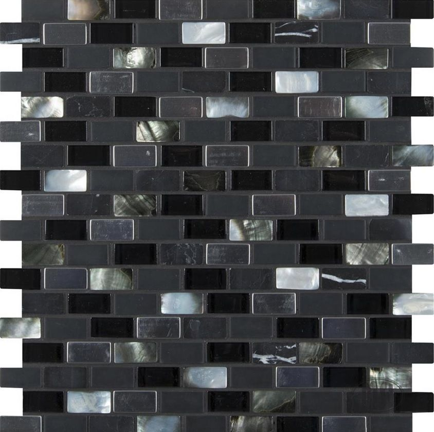 Premier Decor Tile By Msi Midnight Pearl Mini Brick Pattern 8Mm For Wall Backsplash #msi