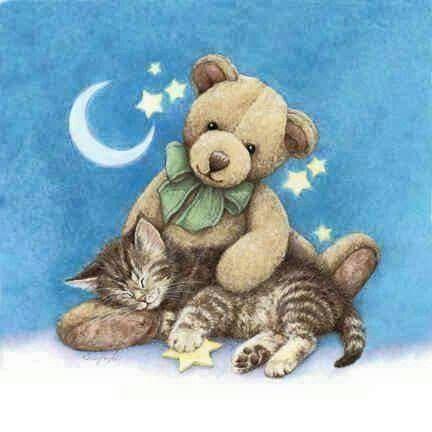 Первым днем, открытки с медвежатами и котятами