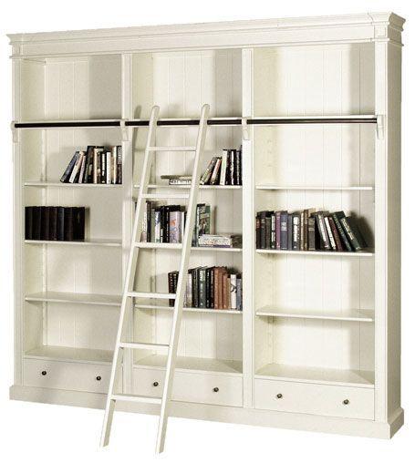 Portobello Light Cream Library Bookcase From Nicky Cornell Furniture Boutique Hertford Uk Large Bookcase Bookcase Library Bookcase