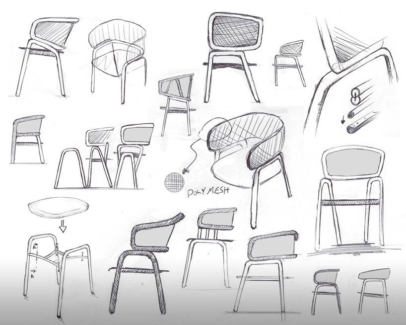 Modern Furniture Sketches frantz chair producks tekhne milan design week designboom
