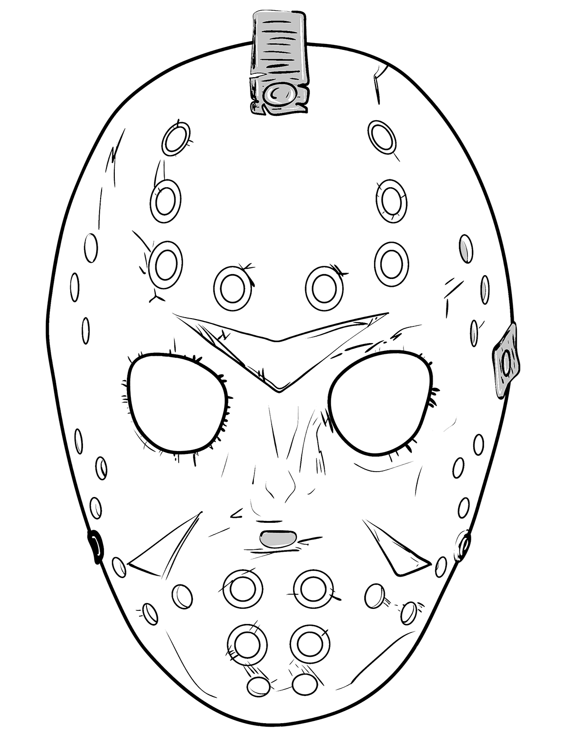 Jason Coloring Pages Friday the 13th Jason mask, Jason