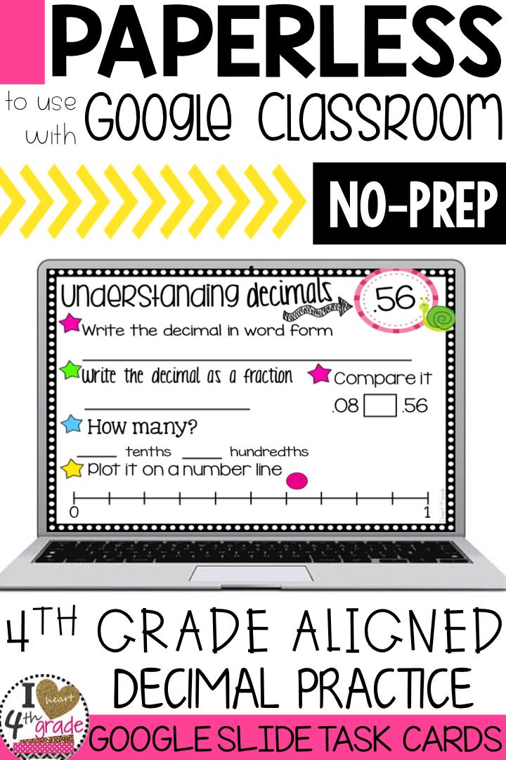 Decimal Practice To Use With Google Classroom My Math Classroom
