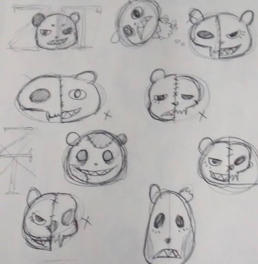 Some Designs I Went Through When Making My Zombieteddie Mascot