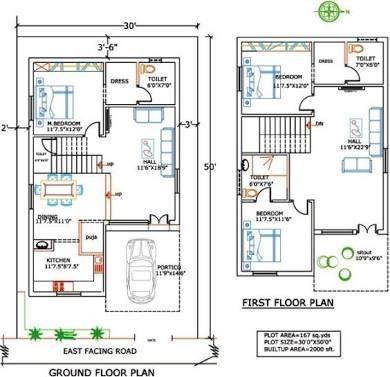 Hasil Gambar Untuk House Plans India 20x30 House Plans Indian House Plans 2bhk House Plan