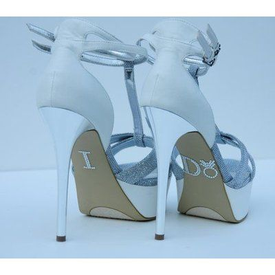Le Prise Rhinestone I Do Ring Wedding Shoe Stickers Colour White