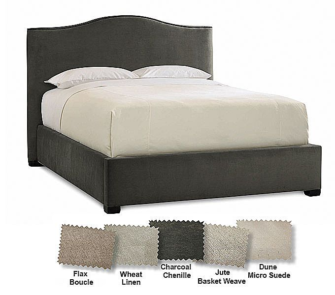 Sleep Number 174 Contemporary Camelback Upholstered Bed