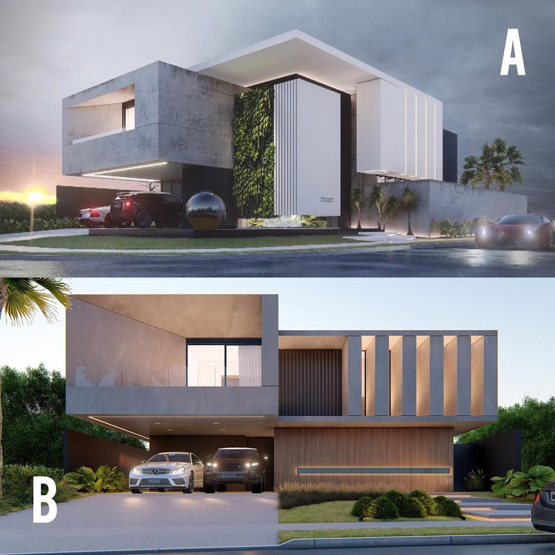 """Arquitetura Addicts on Instagram """"⠀⠀ A or B   Design by @castroarquitetos ⠀ ▪A """"Casa DF"""" in Brazil 🇧🇷 ⠀ ▪B """"Casa GA"""" in Brazil 🇧🇷 comentem 👏🏻👏🏻👏🏻   @castroarquitetos…"""" is part of Modern architecture house - 5,465 Likes, 134 Comments  Arquitetura Addicts (@arquitetura addicts) on Instagram """"⠀⠀ A or B   Design by @castroarquitetos ⠀ ▪A """"Casa DF"""" in Brazil 🇧🇷 ⠀ ▪B """"Casa GA"""" in Brazil 🇧🇷…"""""""