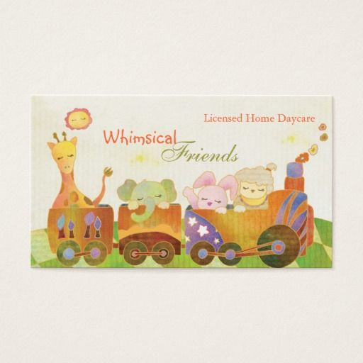 Childcare daycare babysitter business cards childcare childcare daycare babysitter business cards fbccfo Image collections