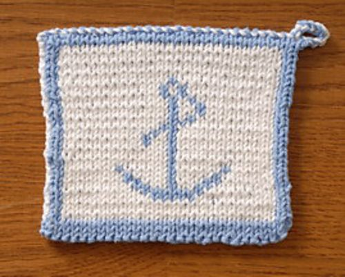 Anchor double knitted potholder pattern by Elaine Prior ...