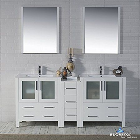 Blossom 001 72 01 D Sydney 72 Quot Double Vanity Set With Mirrors