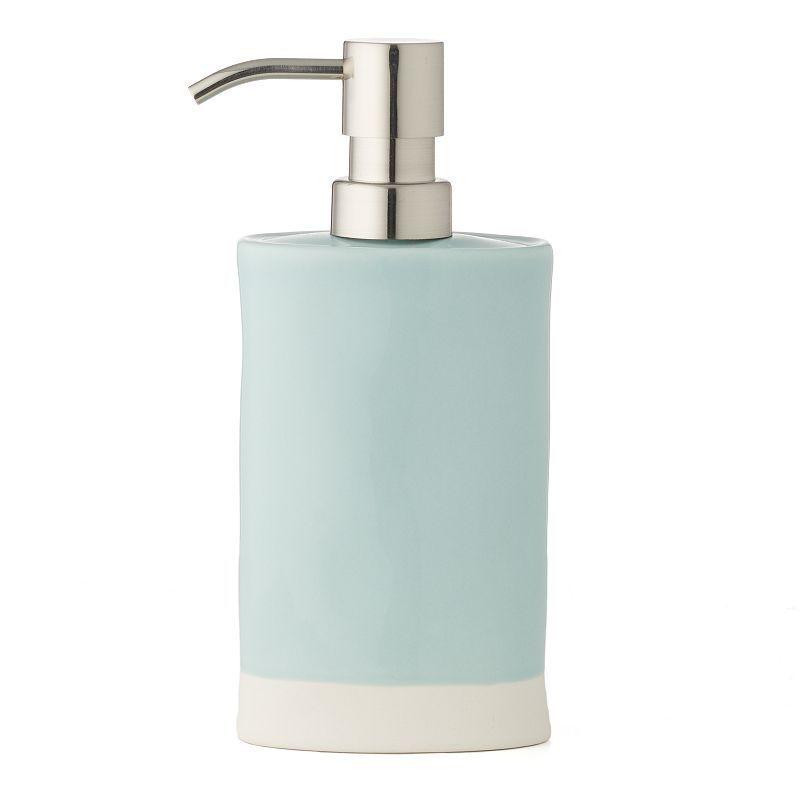 LC Lauren Conrad Ceramic Soap Pump, Blue