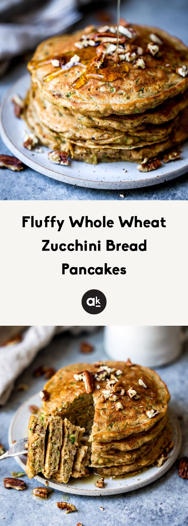 fluffy whole wheat zucchini bread pancakes  recipe