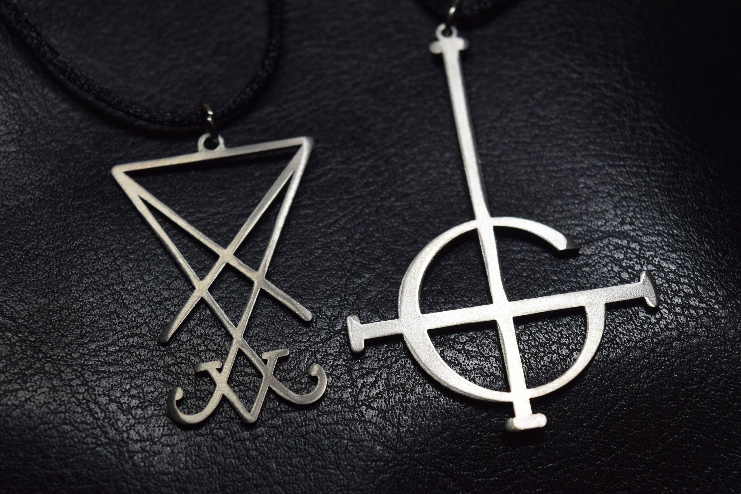 Grucifix sigil of lucifer grucifix ghost band charm sign medallion grucifix sigil of lucifer grucifix ghost band charm sign medallion pendant satanic symbol jewelry seal of satan necklace logo nameless ghoul biocorpaavc