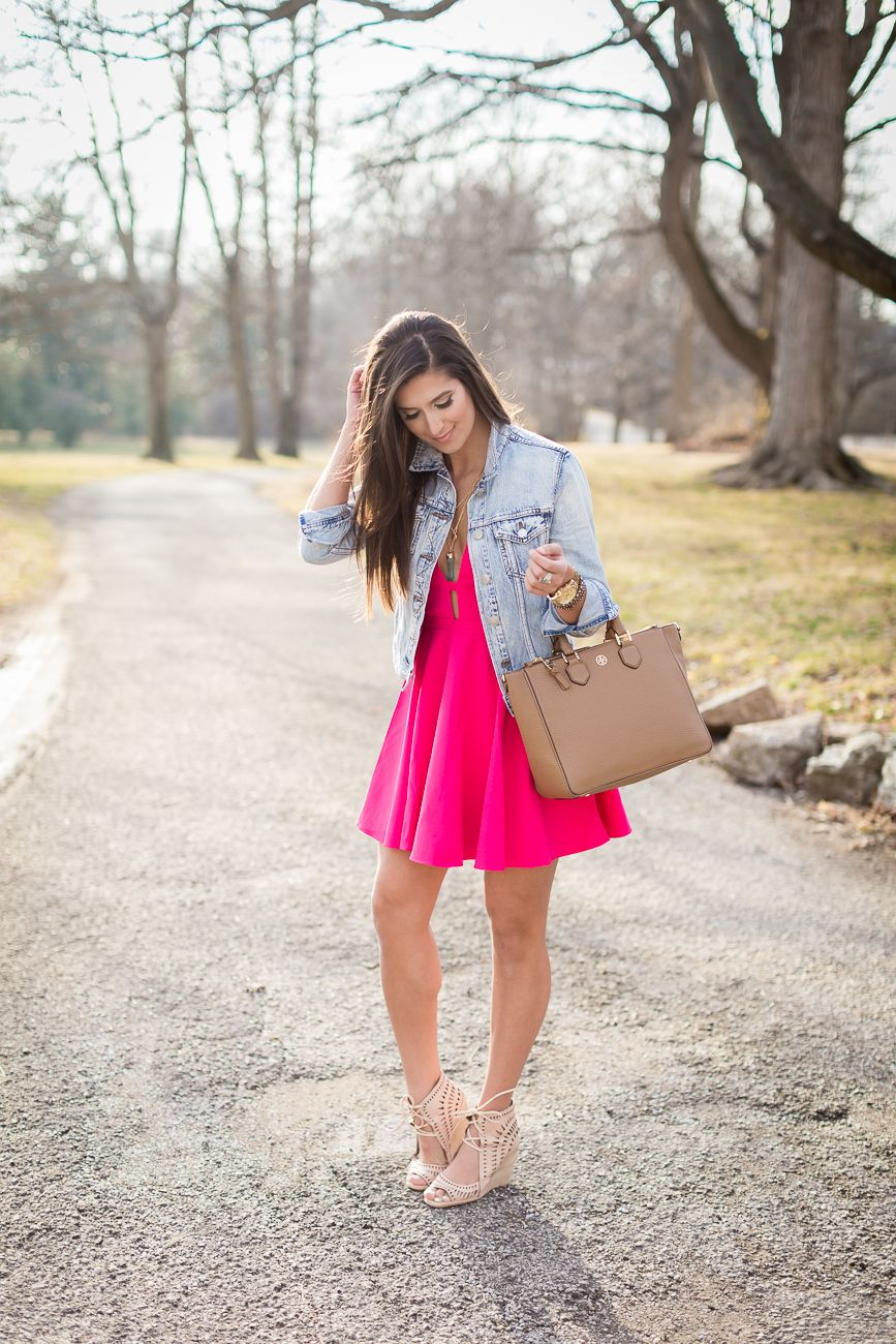 Pink Skater Dress | Spring style, Pink outfits and Pink dress