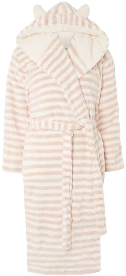 Pink Candy Striped Dressing Gown | Intimates Women Robes | Pinterest
