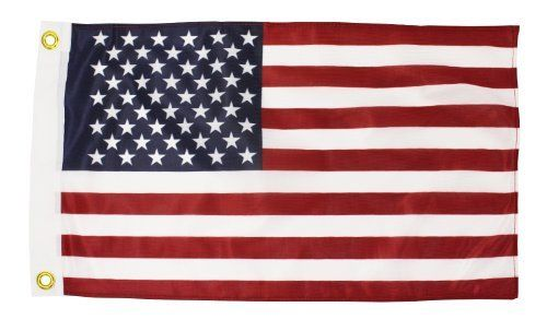 12x18 Knitted Polyester American Flag Printed Stripes And Stars Heading And Grommets Quinn Flags Brand By Quinn Flags 3 00 12 American Flag Woven Flag