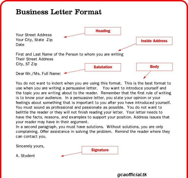 Business Letter Format Xerox Layout Example Documents Word Pdf For