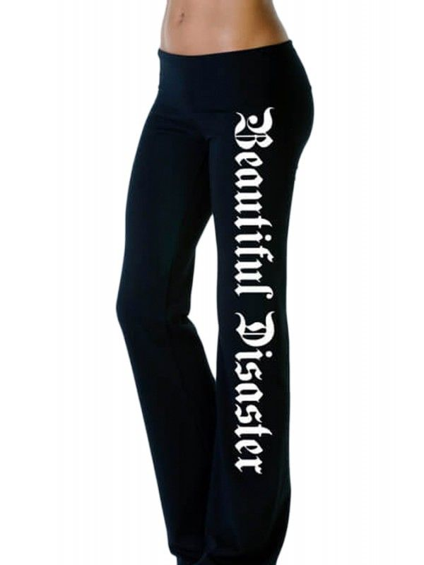 Women's Punk Goddess Yoga Pants - Black/White | Goddesses, The o ...