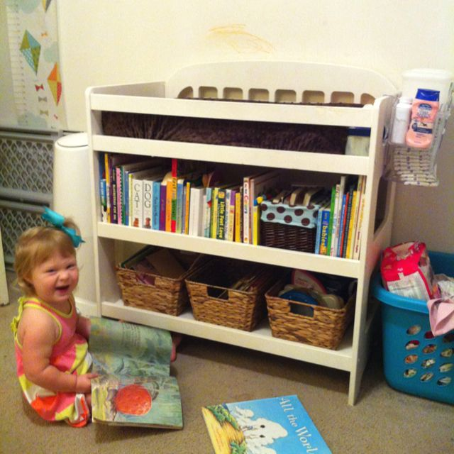 Turned My Daughters Changing Table Into A Bookshelf She Loves It
