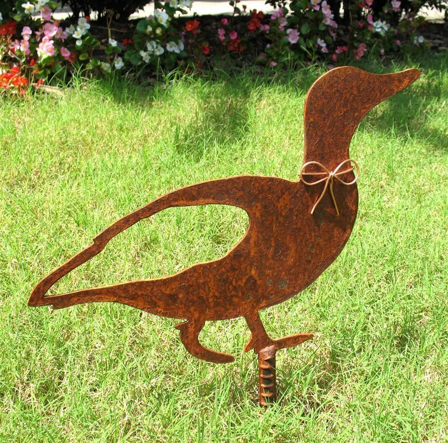 Duck Metal Garden Stake