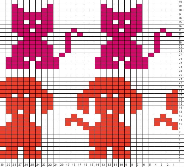 Tricksy Knitter Charts: untitled chart (80266) | Double knitting ...