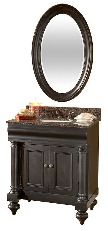 Art Guilda Hall 36 Inch Bathroom Vanity Granite Countertop