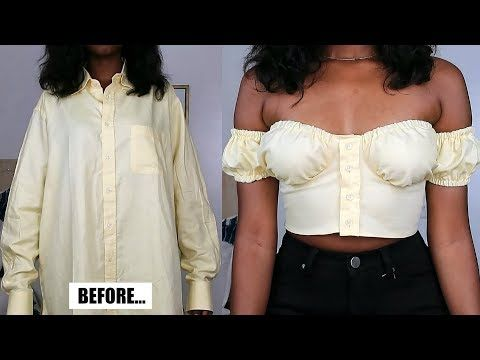 DIY Bustier Crop Top | Men's Shirt Refashion
