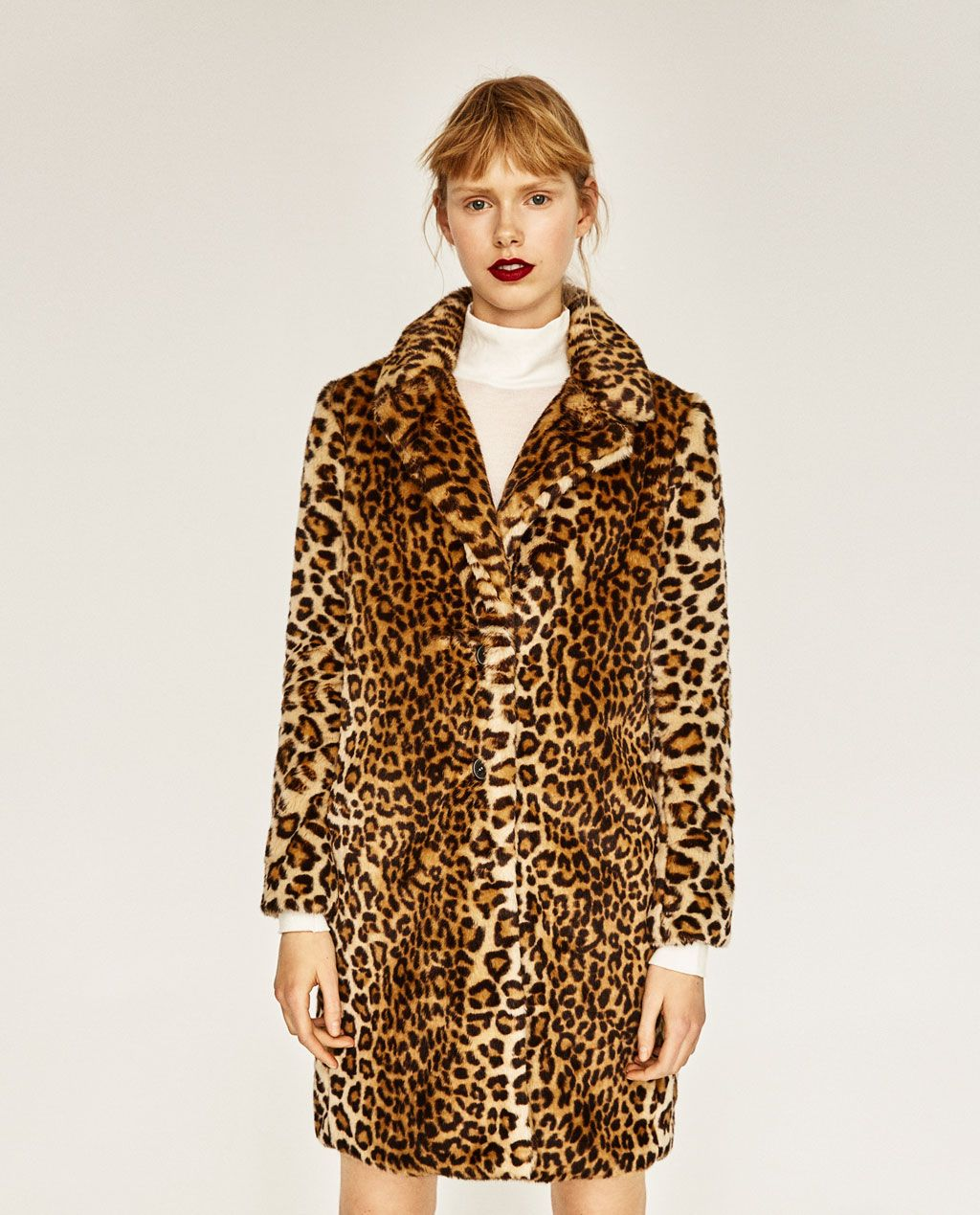 dcddf689f9 Image 2 of FAUX FUR LEOPARD COAT from Zara | Clothing Items ...