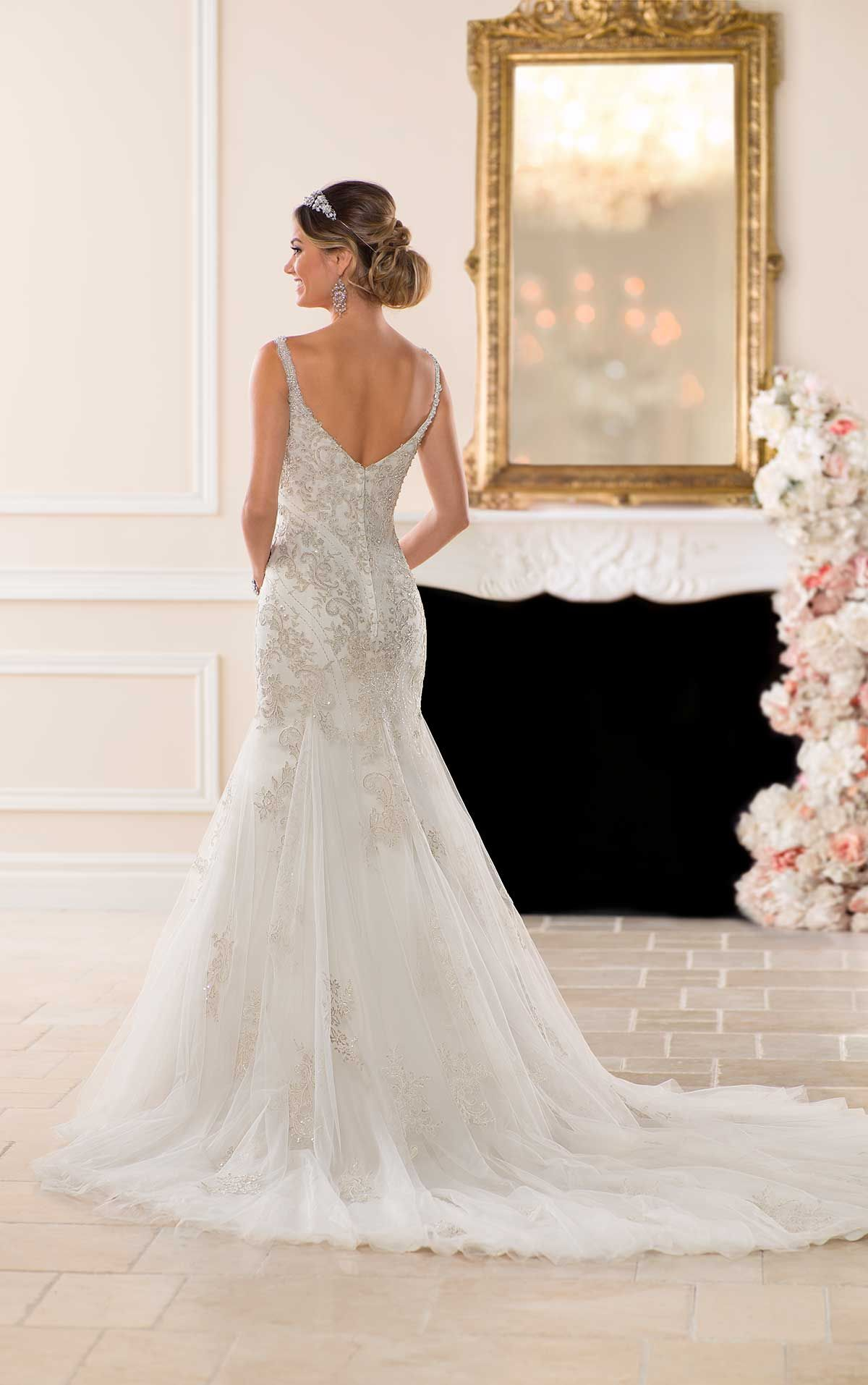 Affordable wedding dresses near me  Trumpet Wedding Dress with Decadent Beading in   Wedding