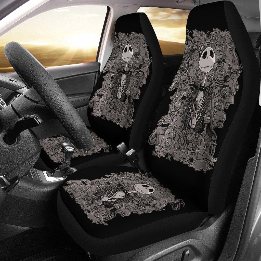 Jack Nightmare Before Christmas Black Car Seat Covers LT02