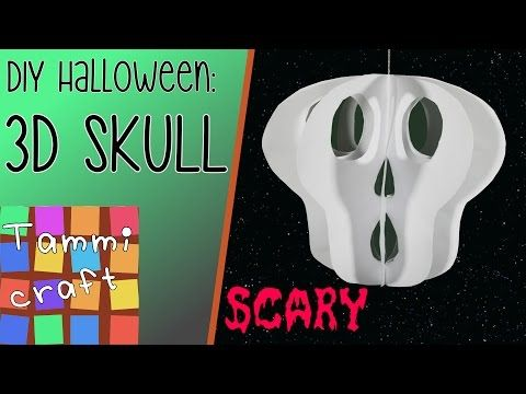How to make spider garlands of paper Halloween DIY Tutorial - how to make halloween decorations youtube