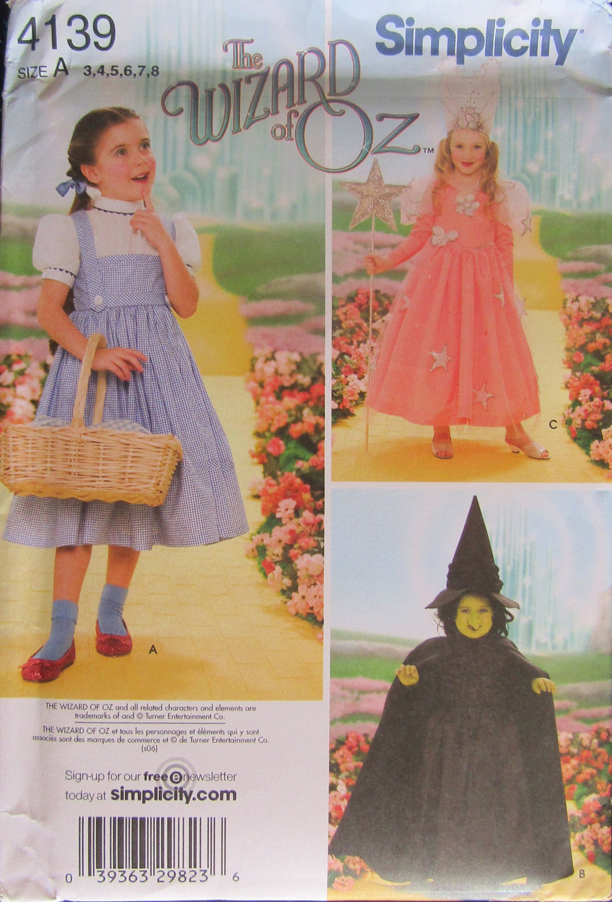 New Simplicity Sewing Pattern Cosplay Fairytale Victorian Halloween Costume UPIC