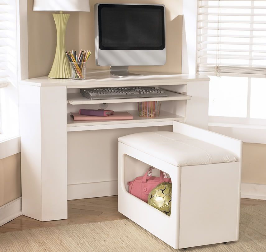 Image Detail For Lulu White Corner Desk Media Unit