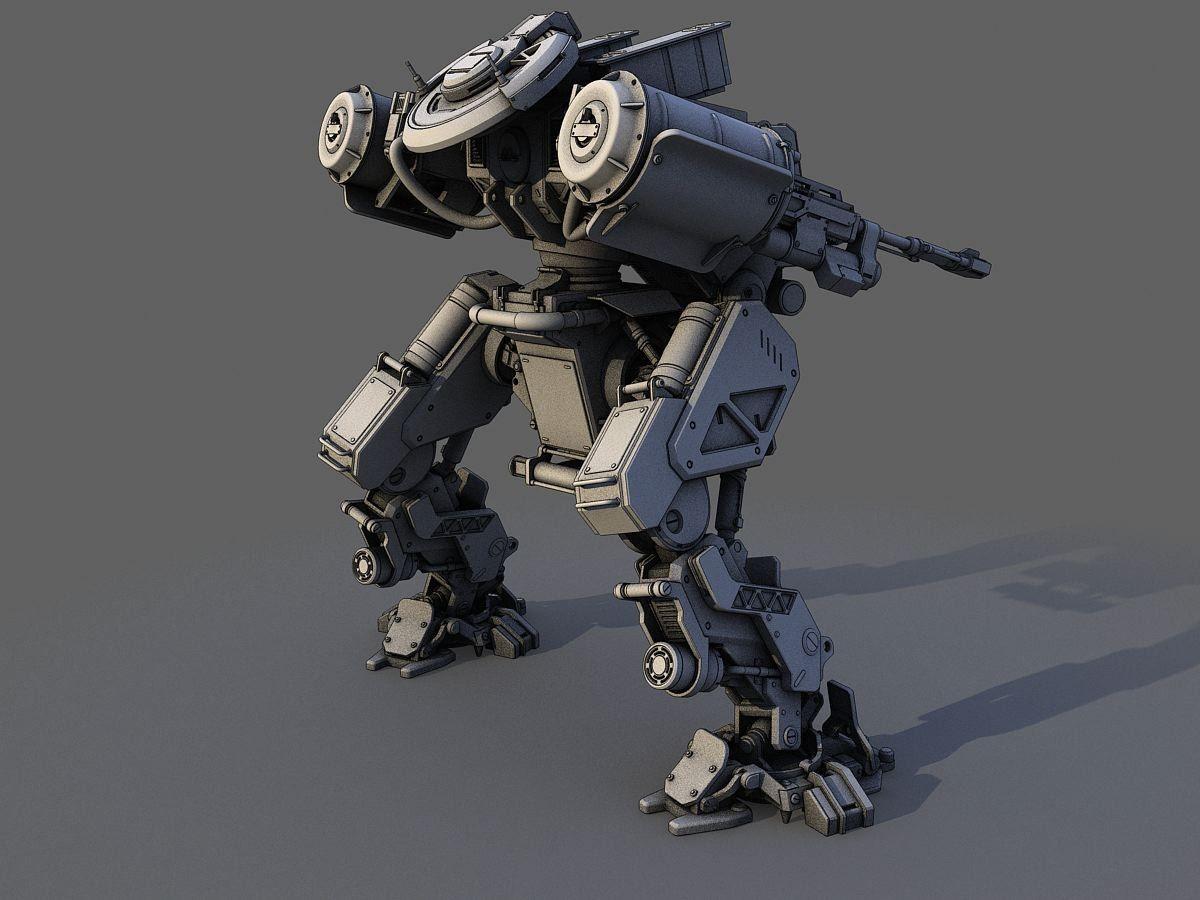 robot 3d model | Mech in 2019 | Robot concept art, Robot