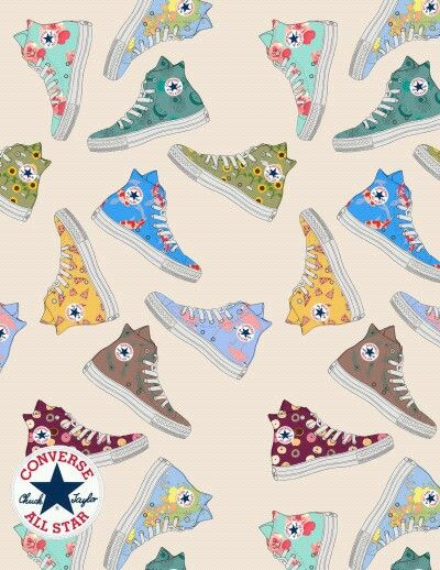 converse wallpaper chucks | ILLUSTRATIONS☆ | Converse ...