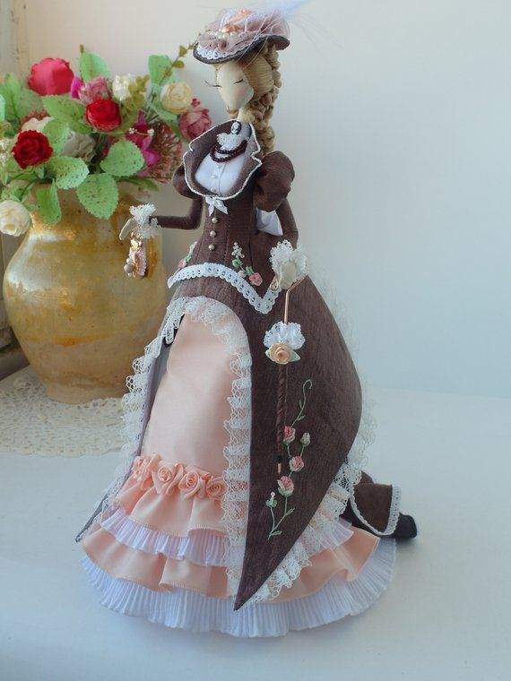 Lady doll, 18th, victorian style, rococo doll, rococo dress,textile doll, interior doll, OOAK, #dollvictoriandressstyles