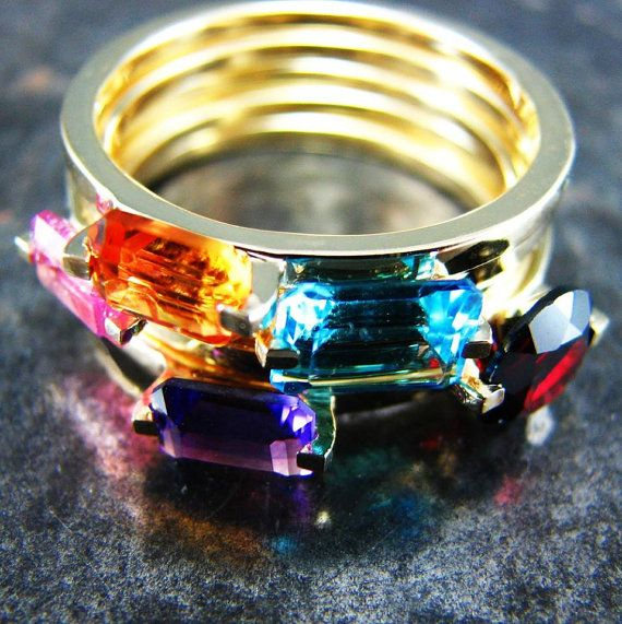IRIS Amethyst Engagement Ring Amethyst and Gold by UngarMetalArt