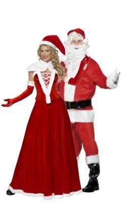 Mrs Claus Santa Jacket Costume Women Sweatshirt Halloween Funny Printed Top Mr